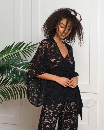 Хлопковая блузка - черная Felena