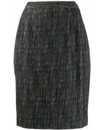 Черная юбка Balmain Pre-owned