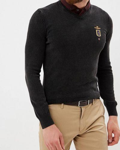 Черный пуловер Aeronautica Militare