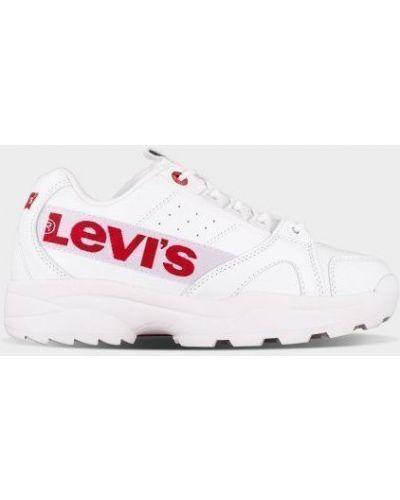 Текстильные брендовые белые кроссовки Levi's®