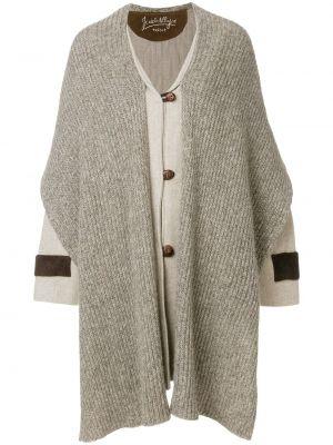 Длинное пальто из альпаки с капюшоном на пуговицах Jc De Castelbajac Pre-owned