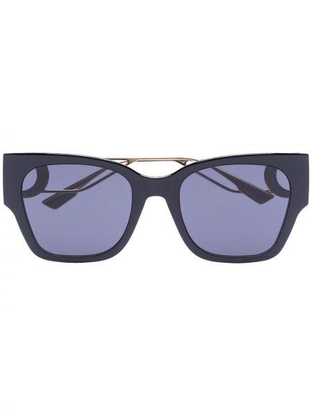 Золотистые прямые черные солнцезащитные очки металлические Dior Eyewear