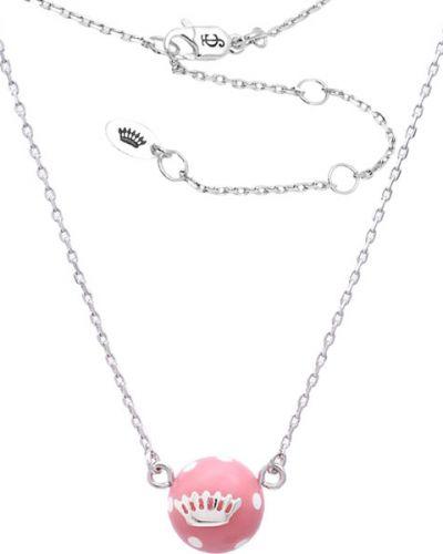Серебряное ожерелье с подвесками с декоративной отделкой Juicy Couture