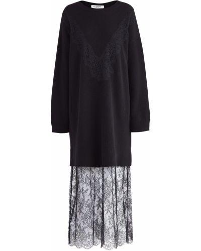 Платье макси с цветочным принтом в рубчик Valentino
