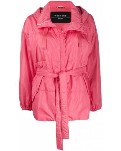 Розовая куртка с капюшоном с манжетами Weekend Max Mara