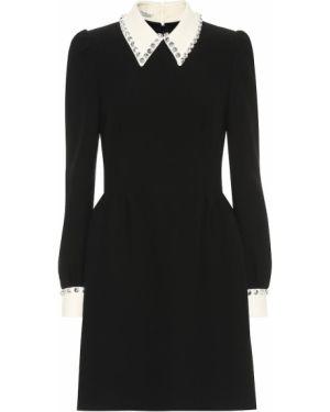 Платье мини с воротником - белое Miu Miu