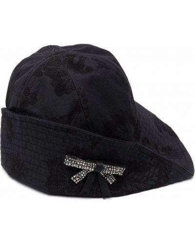 Czarny kapelusz bawełniany Erdem