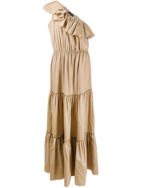 Шелковое платье макси с поясом без рукавов Federica Tosi
