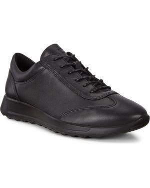 Текстильные черные кроссовки на шнурках с подкладкой Ecco