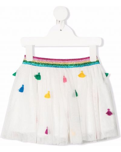 Biała spódnica tiulowa Stella Mccartney Kids