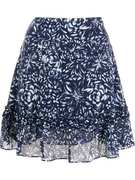 Вечернее платье с принтом - синее Nicole Miller