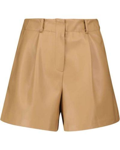 Бежевые короткие шорты Frankie Shop