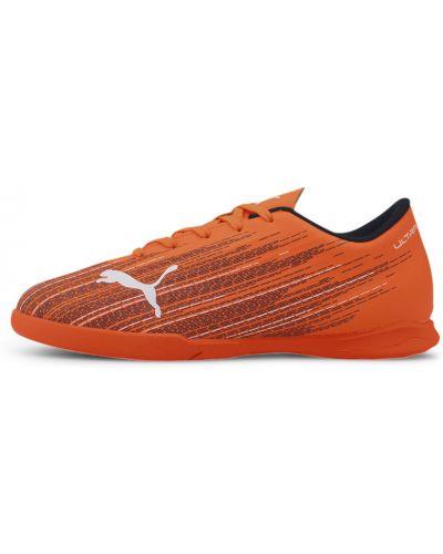 Облегченные оранжевые футбольные бутсы Puma