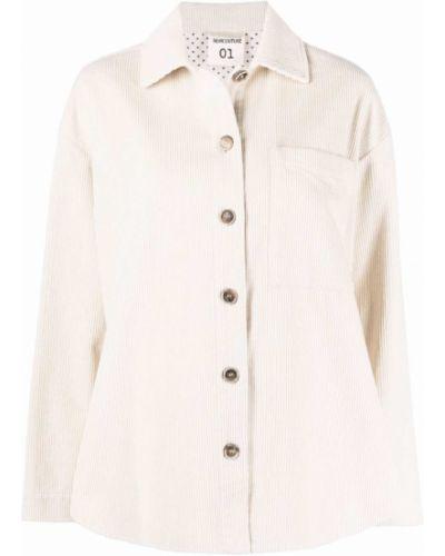 Beżowa koszula z długimi rękawami Semicouture