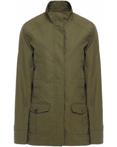 Zielona kurtka bawełniana zapinane na guziki Purdey