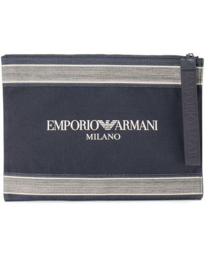 Niebieska kopertówka z printem Emporio Armani