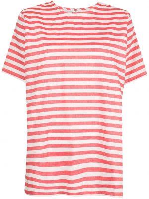 Прямая красная футболка в полоску Bambah