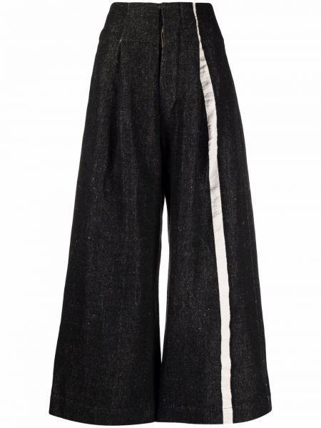 Белые шерстяные брюки Uma Wang