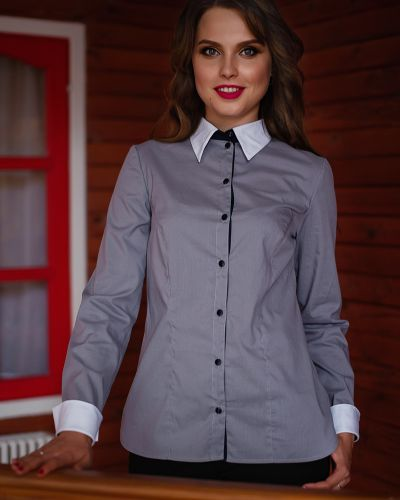 Блузка классическая на пуговицах одевайте