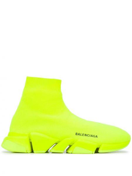 Żółty sport sport skarpety Balenciaga