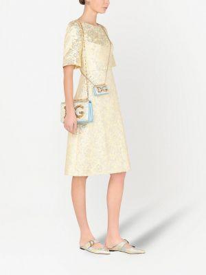 Шелковое платье миди Dolce & Gabbana