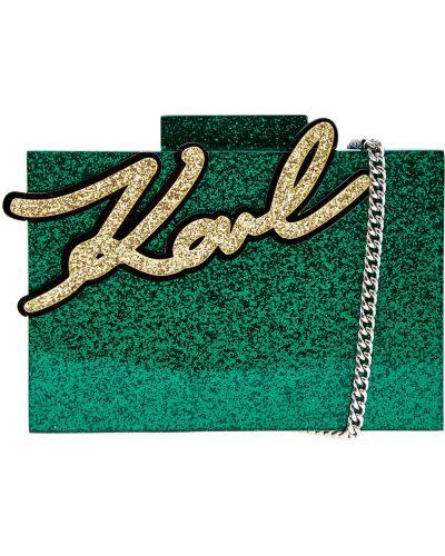 Сумка на цепочке маленькая текстильная Karl Lagerfeld