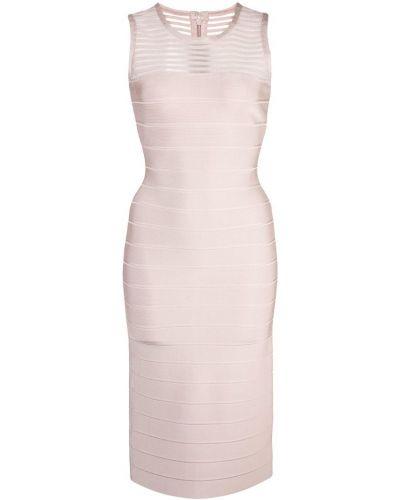 Приталенное платье миди - коричневое Herv Lger