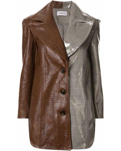 Коричневый приталенный классический пиджак с подстежкой 16arlington