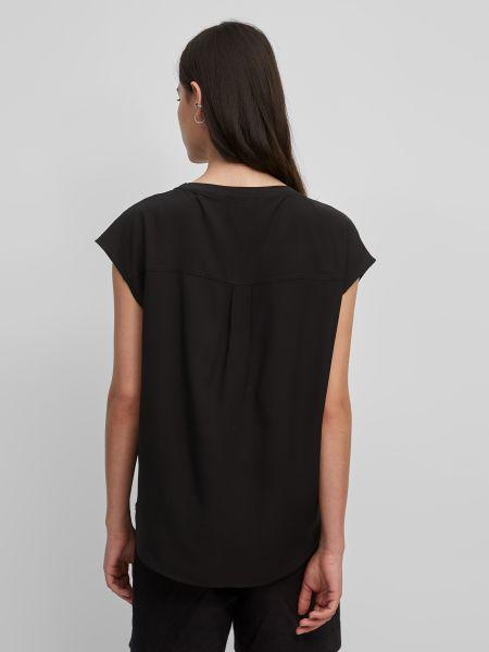 Черная футболка с вырезом Marc O'polo Denim