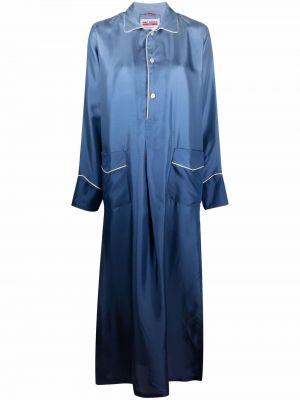 Платье макси длинное - синее F.r.s. For Restless Sleepers