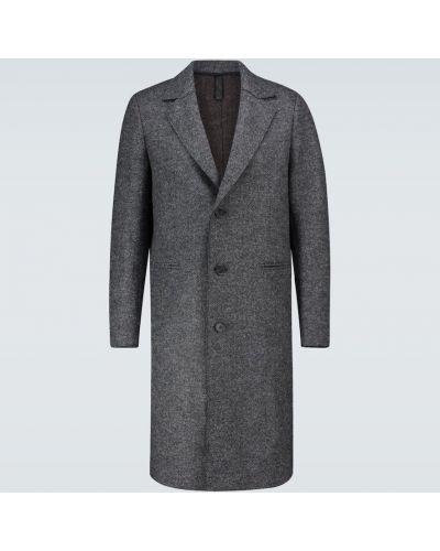 Однобортное шерстяное длинное пальто Harris Wharf London