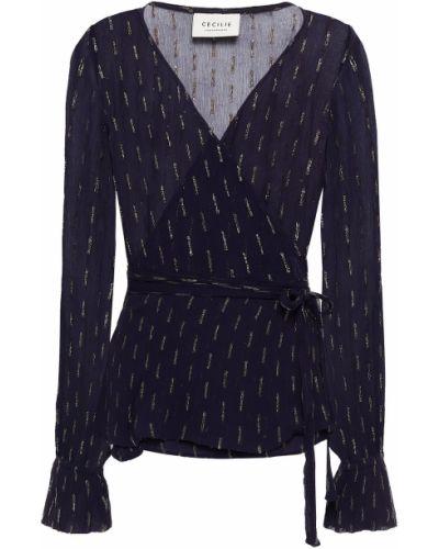 Блузка с люрексом - черная Cecilie Copenhagen