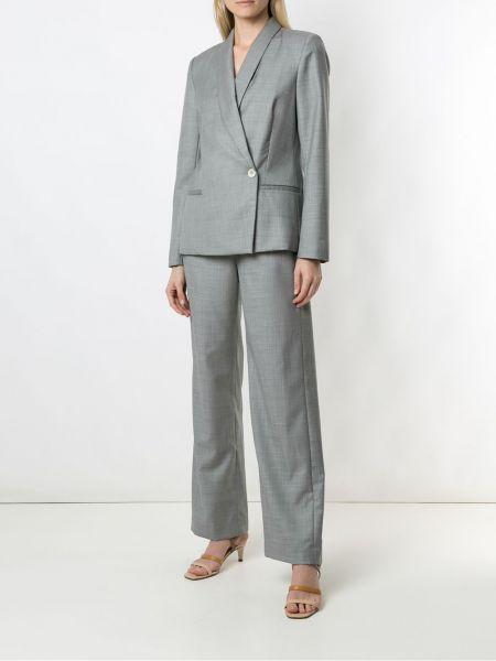 Прямой серый классический пиджак с подкладкой Egrey