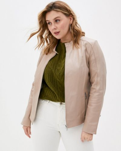 Розовая кожаная куртка Le Monique
