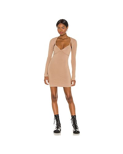 Шелковое платье с подкладкой на бретелях H:ours