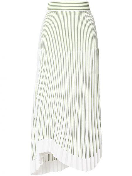 Белая юбка с драпировкой из вискозы Mrz