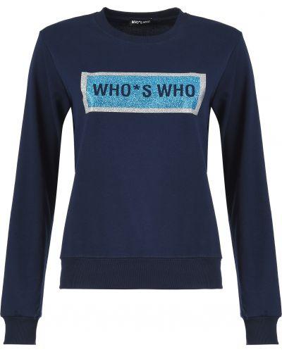 Хлопковый джемпер - синий Who's Who