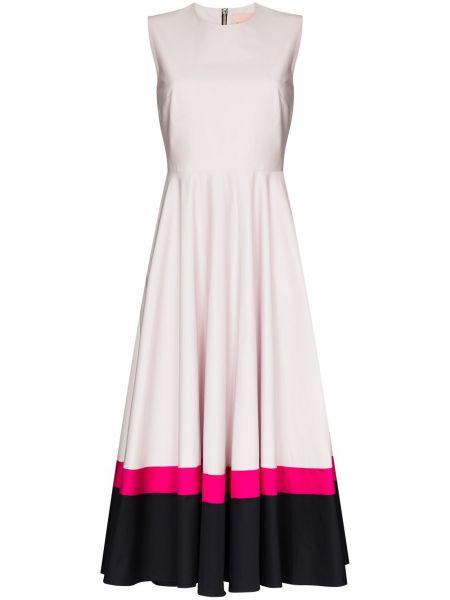 Różowa sukienka bawełniana Roksanda