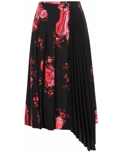 Czarna spódnica w kwiaty Vivetta