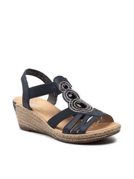 Sandały casual - granatowe Rieker