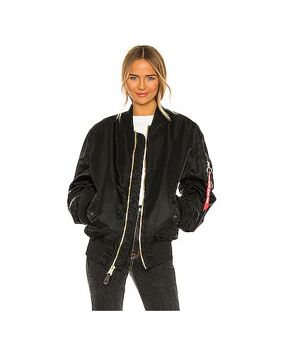 С рукавами водонепроницаемая черная куртка Alpha Industries