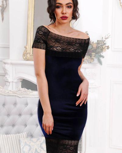 Кружевное черное платье свободного кроя Modniy Oazis