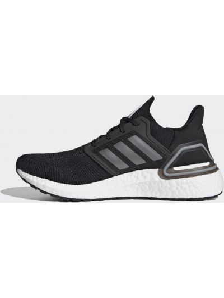 Черные кроссовки беговые для бега на шнуровке Adidas