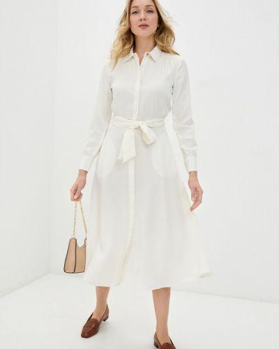 Клубное бежевое платье-рубашка Concept Club