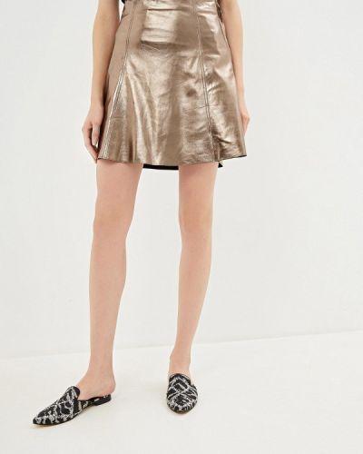 Кожаная юбка золотой индийский Max&co