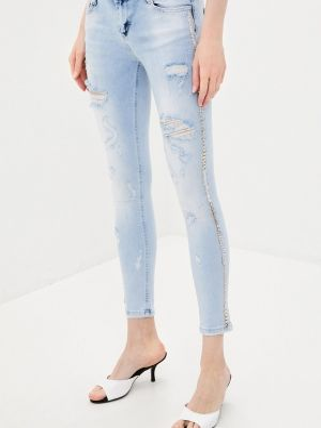 Зауженные джинсы - голубые D'she