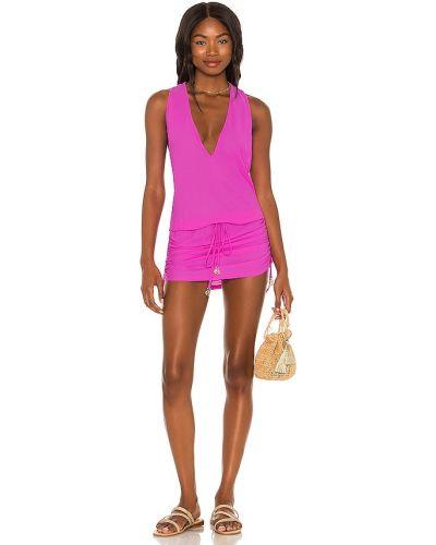Платье мини - фиолетовое Luli Fama