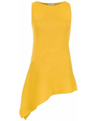 Блузка без рукавов асимметричная прямая Egrey