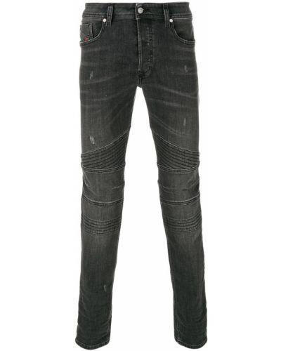 Серые джинсы байкерские Diesel