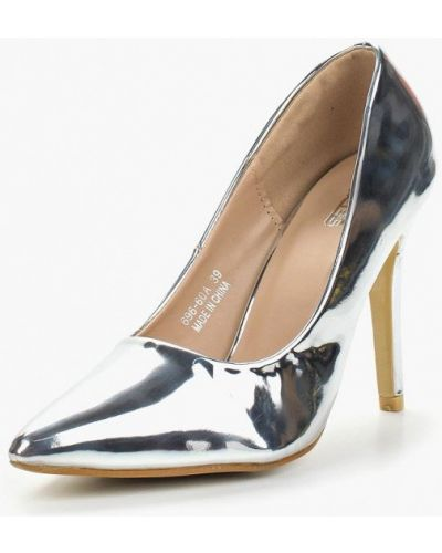 Туфли-лодочки серебряного цвета Max Shoes